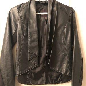 Dynamite faux leather blazer
